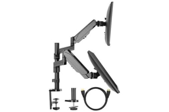 Huanuo HNDSK2  Gas Spring Dual Arm Monitor Mount