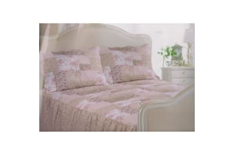 E Of W Montana Diamond Quilted Floral Patterned Bedspread With Pillowshams Bedding Set (Montana)