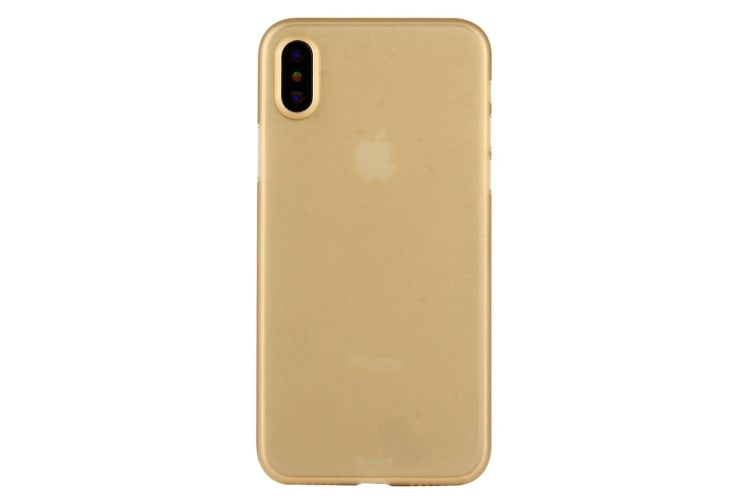 For iPhone XS X Back Case Wear-resistant High-Quality Protective Cover Gold