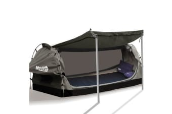 Canvas Dome Swags Free Standing in Grey Double Size