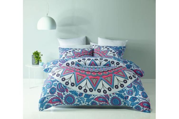 Royal Comfort Mandala Quilt Cover Set (Double, Marley)
