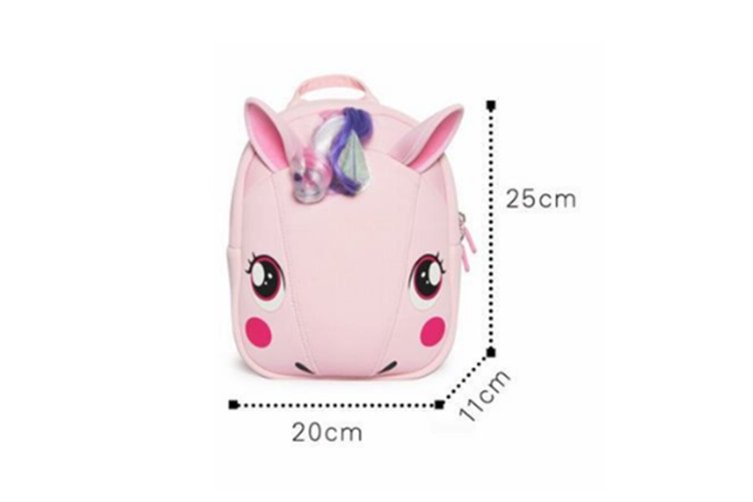 Cute Unicorn Backpack Children'S Diving Cloth Shoulder Pack - Pink Purple Purple