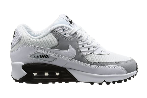 promo code 93001 13ab5 Nike Women s Air Max 90 Shoe (White Wolf Grey Black, Size 12) - Kogan.com