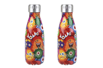 2x Oasis 350ml Double Wall Insulated Drink Water Bottle Vacuum Flask Monster