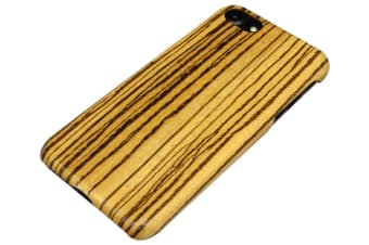 For iPhone 8 7 Case Natural Zebra Durable High-Quality Wooden Protective Cover