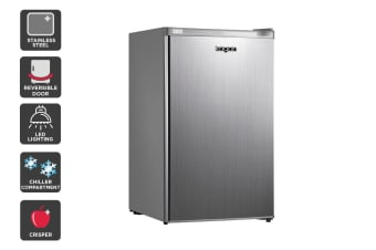 Kogan 129L SteelCold Stainless Steel Fridge