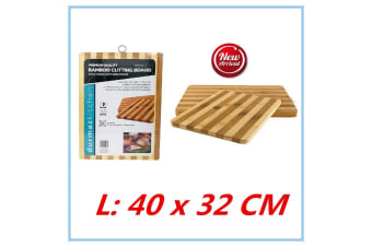 Bamboo Cutting Chopping Board - 32CM X 40CM With Ring For Hanging