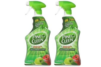 2x Pine O Cleen Crisp Apple 750mL/Multi Purpose House/Kitchen Cleaning Spray