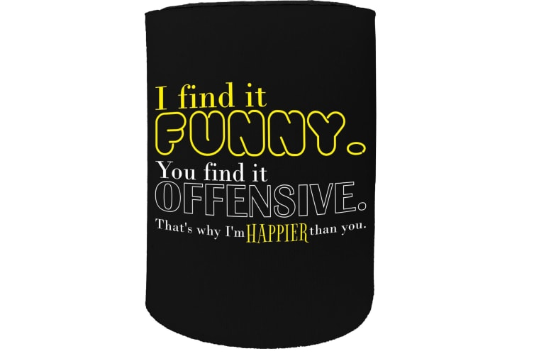 123t Stubby Holder - i find it funny offensive cool - Funny Novelty