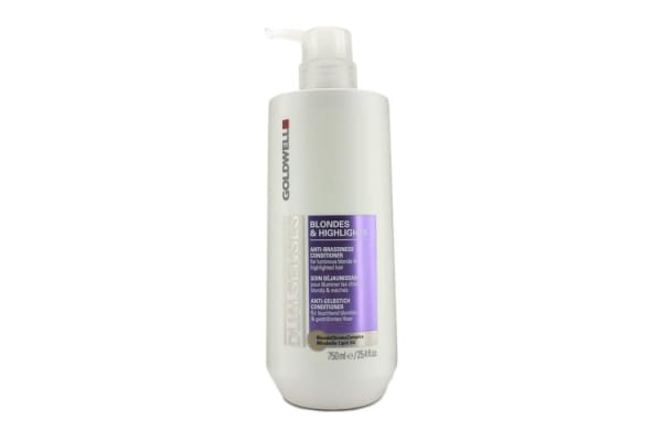 Goldwell Dual Senses Blondes & Highlights Anti-Brassiness Conditioner (For Luminous Blonde & Highlighted Hair) (750ml/25.4oz)