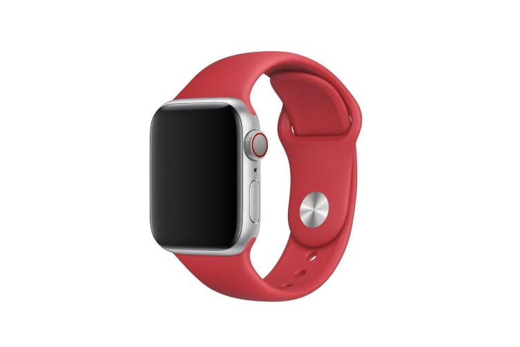 Apple Watch iWatch Series 1 2 3 4 5 Silicone Replacement Strap Band 44mm/42mm M/L size-Red