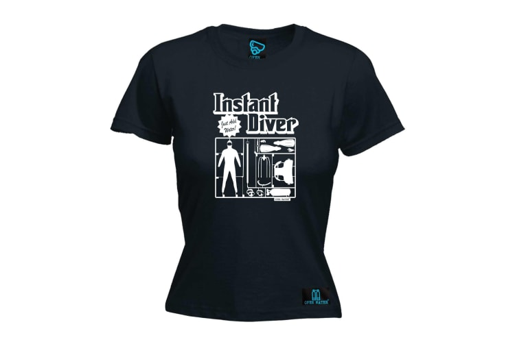 Open Water Scuba Diving Tee - Instant Diver - (Small Black Womens T Shirt)