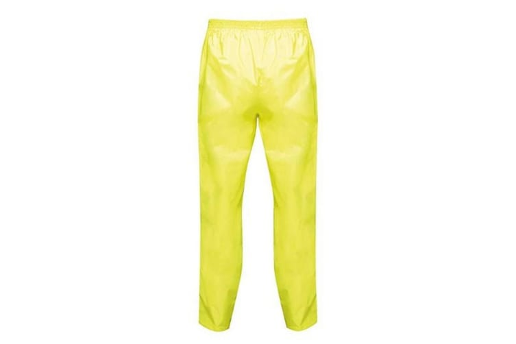 Regatta Pro Mens Packaway Waterproof Breathable Overtrousers (Fluorescent Yellow) (S)
