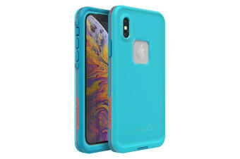 Lifeproof iPhone X/XS FRE Case Waterproof Dirtproof Snowproof Dropproof Cover for Apple - Blue & Orange Boosted