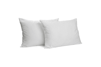 2PK Luxurious Goose Feather & Down Fiiling Pillow 1000gsm 75cm Machine Washable