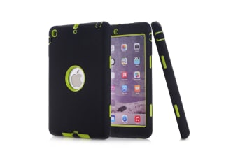 Heavy Duty Shockproof Case Cover For iPad Mini 4-Black/Green