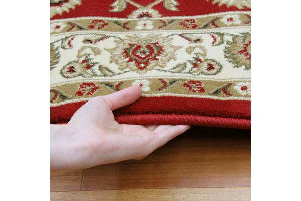 Classic Rug Red with Ivory Border 330x240cm