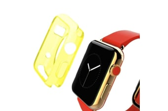 Yellow For Apple Watch 1 2 3 4 (44mm 42mm) Slim TPU Protective Case