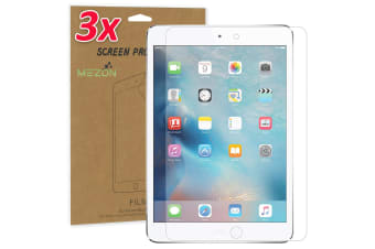 "[3 Pack] Apple iPad Mini 7.9"" Ultra Clear Film Screen Protector by MEZON – Face ID Compatible, Case and Pencil Friendly (iPad Mini 7.9"", Clear)"
