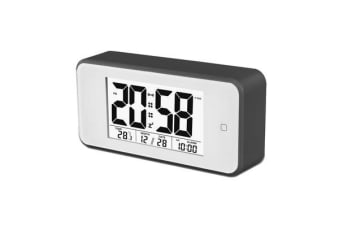 TODO Smart Light Lcd Alarm Clock Backlit Display Portable Battery Operated - Black