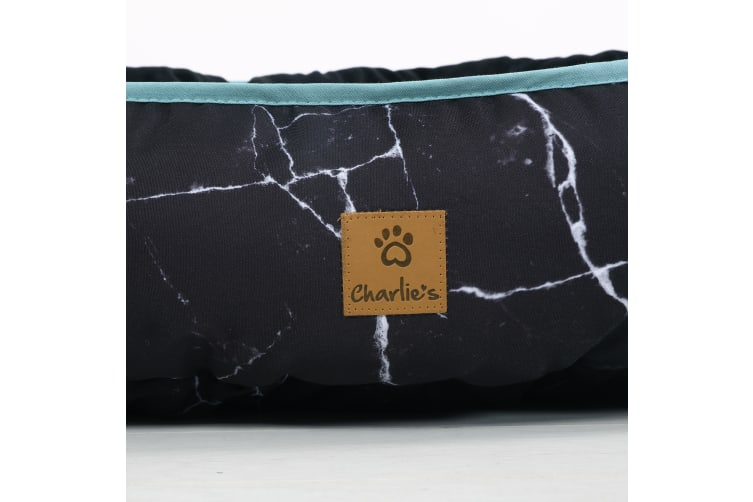 Pet Reversible Oval Pad - Black Marble S-45 x 56 x 15cm
