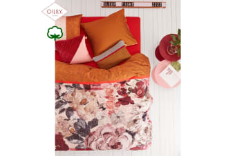 Mellow Rose Red Quilt Cover Set Super King