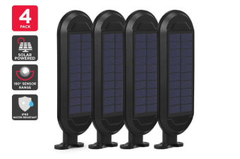 4 Pack Solar Wall Mounted Motion Sensor Light (Black, Zara)