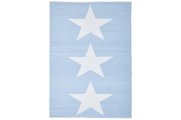 Coastal Indoor Out door Rug Star Sky Blue White 270x180cm