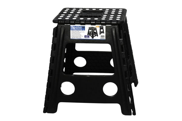 39cm Black Plastic Folding Stool