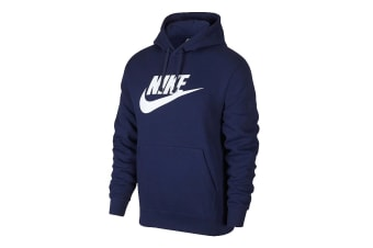 Nike Men's Sportswear Club PO BB GX Hoodies (Blue/White)