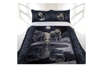 Warrior of Winter Wolves Quilt Cover Set by Lisa Parker Collection