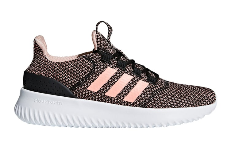 Adidas Neo Women's Cloudfoam Ultimate Shoe (Core Black/Orange/White, Size 5)