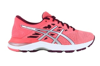 ASICS Women's GEL-Flux 5 Running Shoe (Pink Cameo/Silver, Size 7)