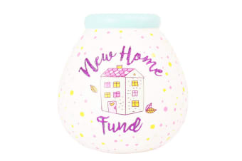 Pot of Dreams New Home Fund Ceramic Money Pot (White) (One Size)