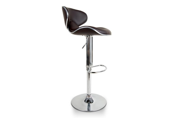 Set of 2 PU Leather Kitchen Bar Stool (Chocolate)
