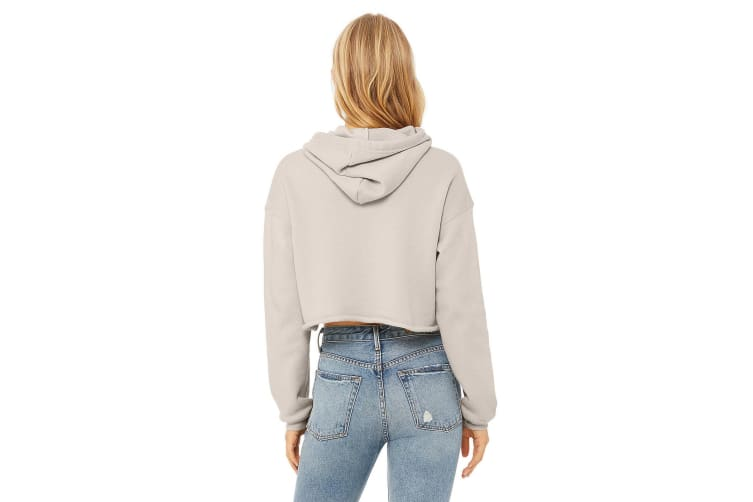 Bella + Canvas Ladies Cropped Hoodie (Heather Dust) (XL)
