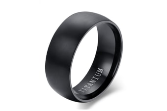 Wedding Band Classic Black Titanium Ring For Men Women 6