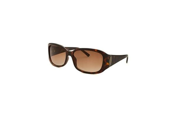 Kenneth Cole Reaction Women's Rectangle Havana Sunglasses (KCR1210-052F)