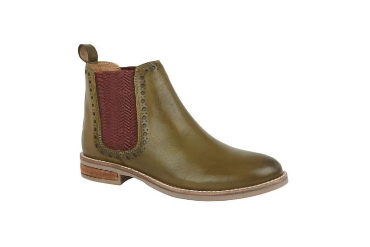 Cipriata Womens/Ladies Lidia Leather Twin Gusset Ankle Boot (Olive Green) (8 UK)