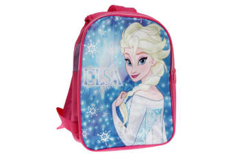 Disney Frozen Girls Backpack With Reversible Straps (Pink/Blue)