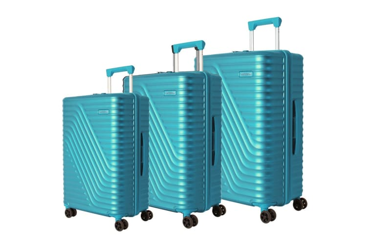 American Tourister High Rock 3 Piece TSA Luggage Set (Lagoon Blue)