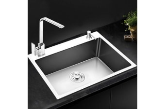 Cefito Kitchen Sink Stainless Steel SIngle Bowl Sinks Laundry Strainer 600x450mm
