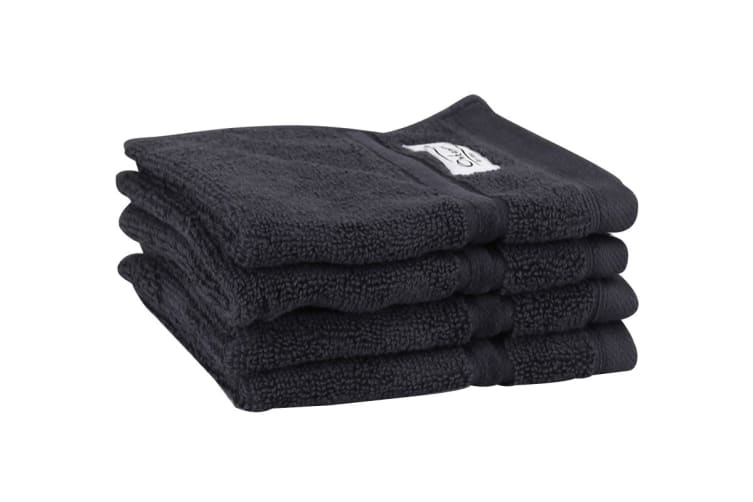 Onkaparinga Haven 600gsm Face Washer Set of 4 (Charcoal)