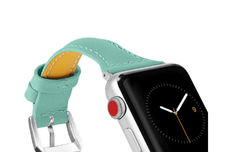 Select Mall PU Leather Strap Watch Leather Wristband for Apple Watch Series 5 4 3 2 1-6 38/40mm