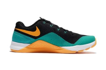 Nike Men's Metcon Repper DSX Cross Trainer Shoe (Black/White/Jade/Laser Orange, Size 10.5 US)