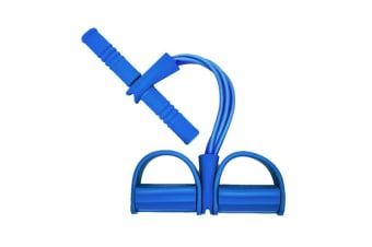 Sit-up Bodybuilding Expander Multifunction Leg Exerciser Pull Rope Blue