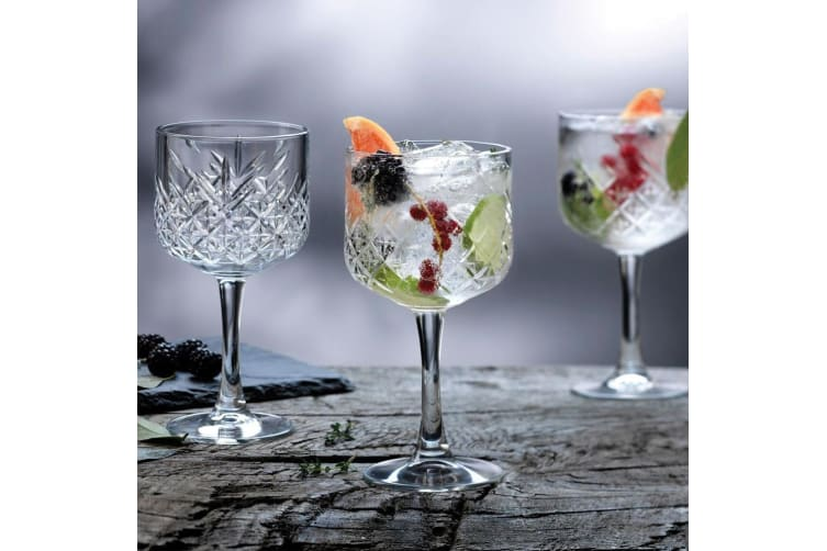 8pc Pasabahce Timeless 500ml Clear Gin & Tonic Wine Glasses Party Alcohol Glass