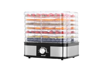 Food Dehydrator Fruit Meat Dryer Beef Jerky Maker w/ 7 Adjustable Trays - Black