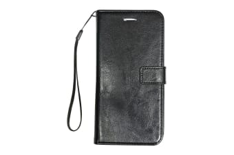 For iPhone 8 PLUS 7 PLUS Wallet Case Elegant Luxury Durable Leather Cover Black