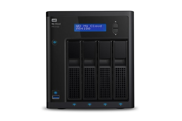 WD My Cloud PR4100 Pro Series Media Server NAS - 32TB (WDBNFA0320KBK-SESN)